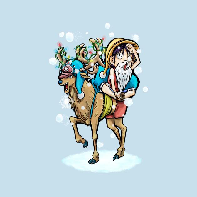 A Tony Tony Chopper Christmas T-Shirt