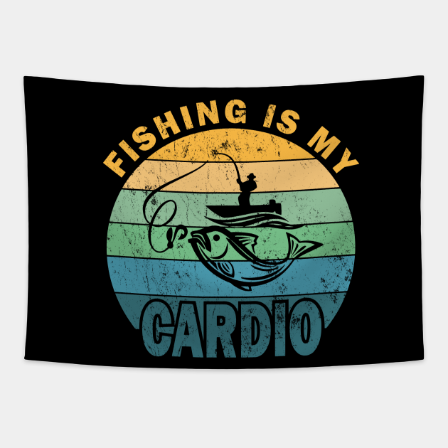 Fishing Is My Cardio, Funny Vintage Fishing Gifts Fo Men, Funny Fisherman, Fathers Day Gift Ideas