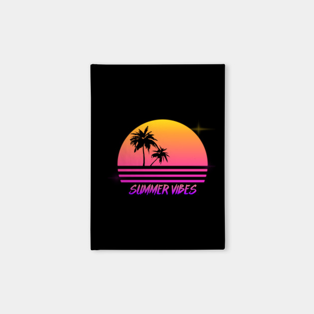 5e59b395f9e8 Summer Vibes - Retro Synth Sunset Style - Summer - Notebook