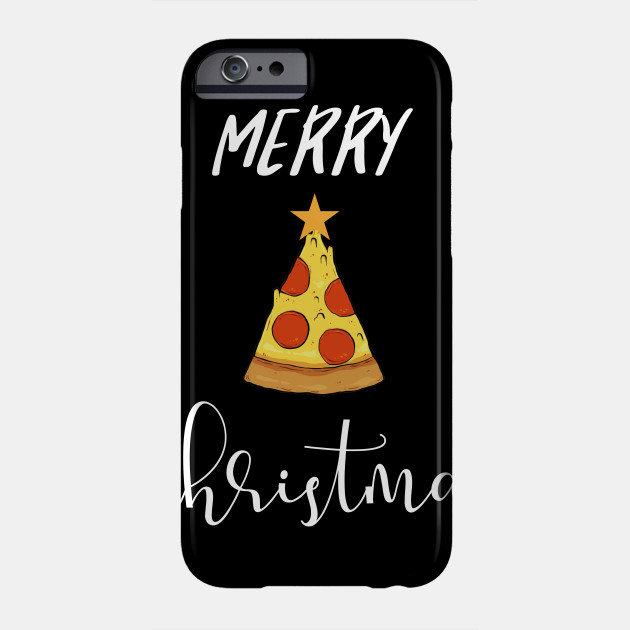 Merry Christmas Pizza Christmas tree Phone Case