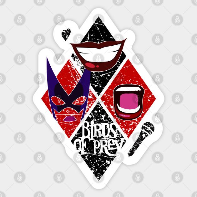 Birds Of Prey Diamond Design Harley Quinn Sticker Teepublic