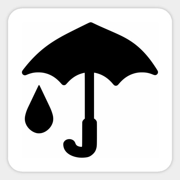 Limited Edition Exclusive Umbrella And Raindrop Icon
