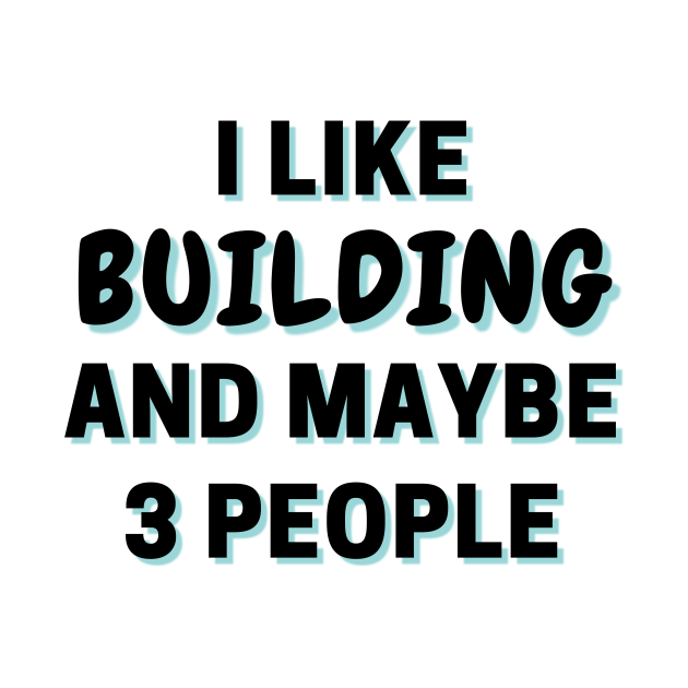 I Like Building And Maybe 3 People