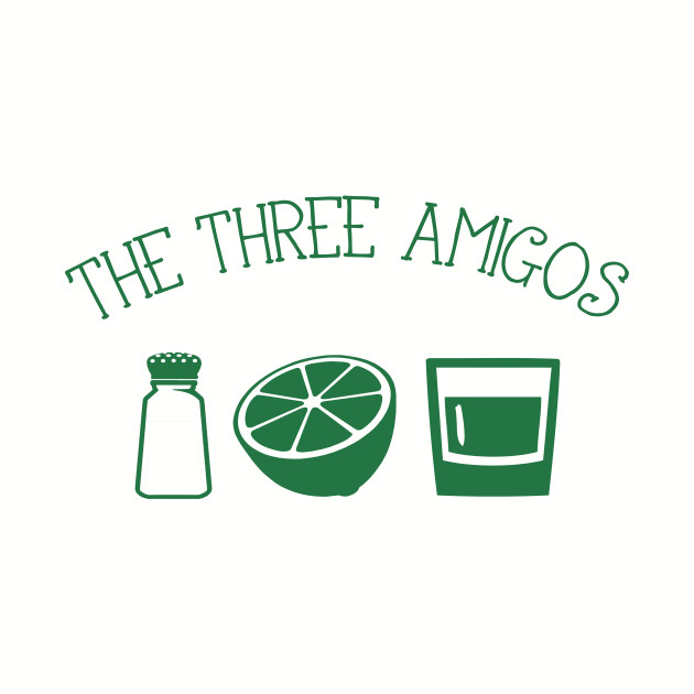 The Three Amigos - salt lime tequila