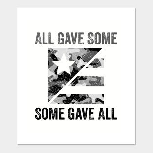 Free shipping! ALL GAVE SOME,SOME GAVE ALL military veteran License plate black