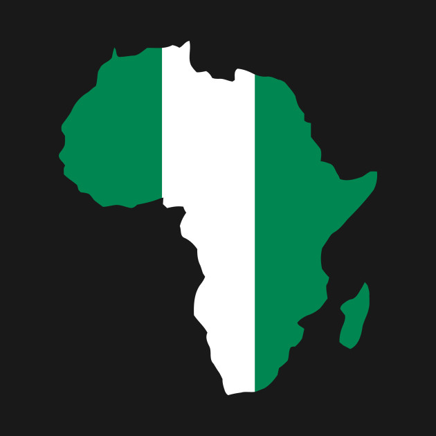 Nigerian pride Nigeria flag Africa map - I Love Nigerian Flag Africa ...