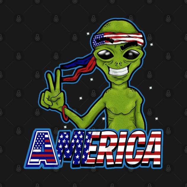 Fun design America alien