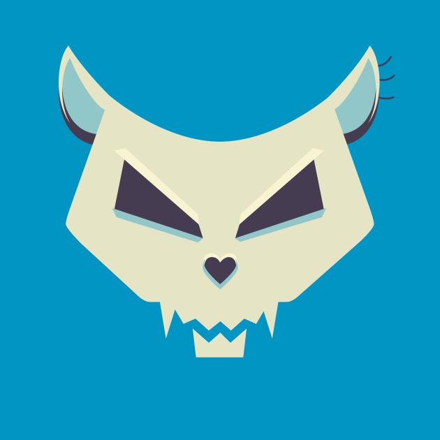 Pastel Evil Cat Skull
