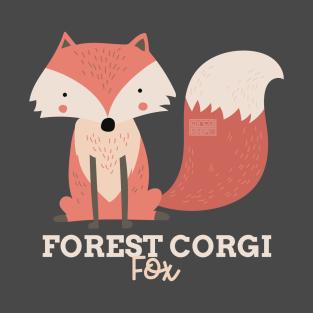 689c1f81 Funny Animal Name Meme Forest Corgi FOX T-Shirt