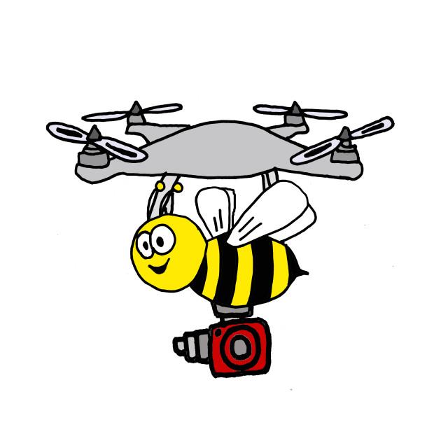 Funny Yellow Jacket Bee Drone Cartoon Drone Kids Long Sleeve T