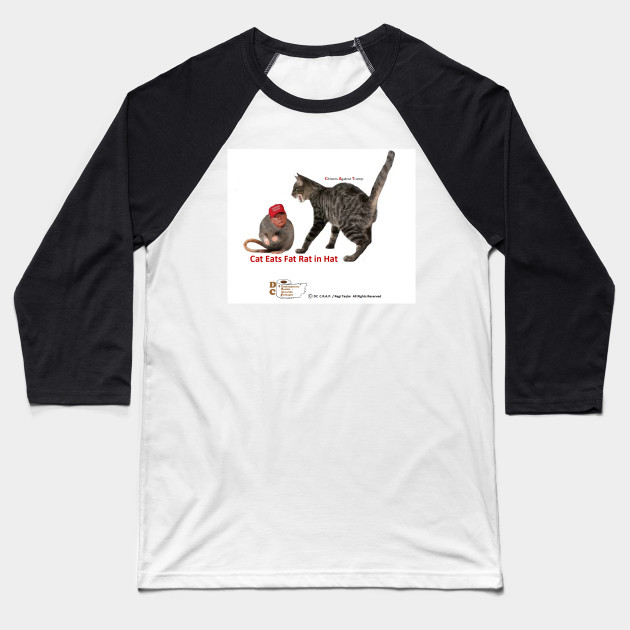 Cat Eats Fat Rat in Hat Baseball T-Shirt
