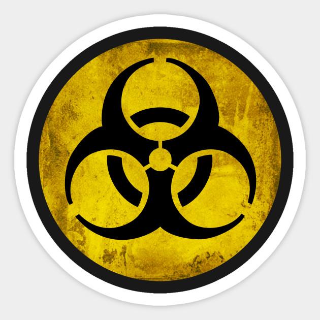 Biohazard Symbol Biohazard Sticker Teepublic