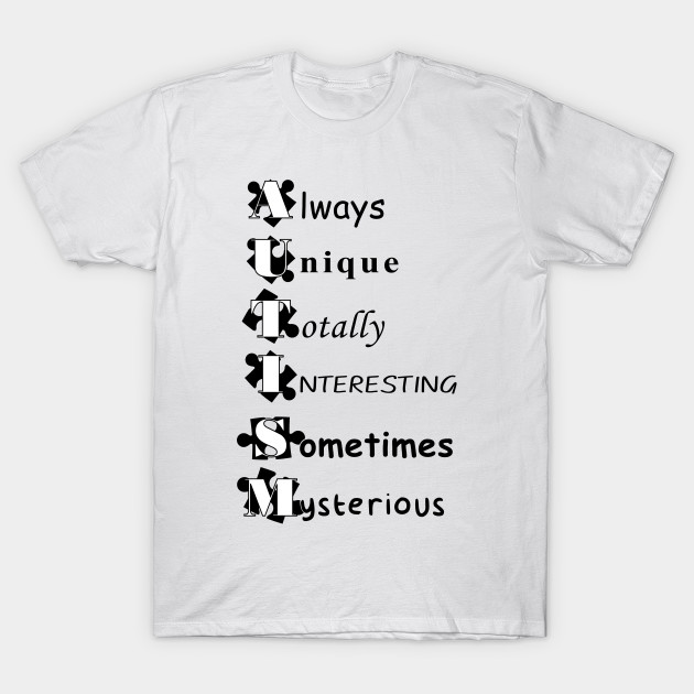 Always Unique Totally Intelligent Autism Adult Mens Fashion Long Sleeve Hoodie T Shirt