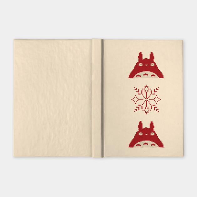 Totoro Christmas Sweater - Totoro - Notebook | TeePublic