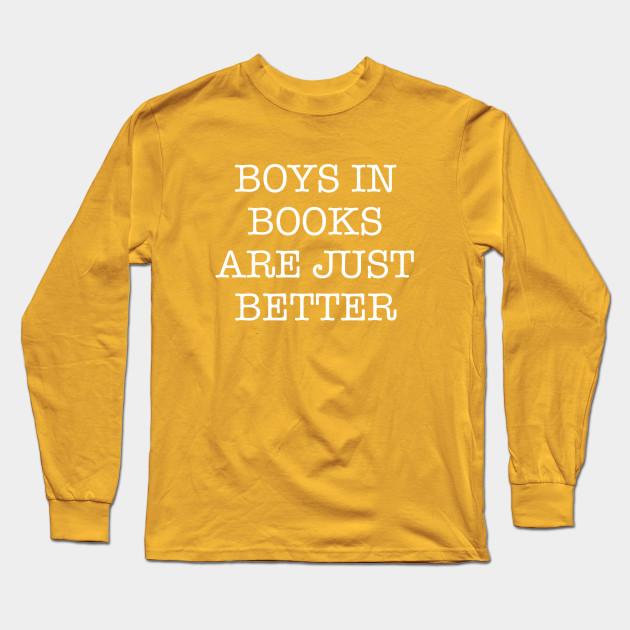 Long Sleeve Shirt Light Orange The Book was Better Tee Shirt