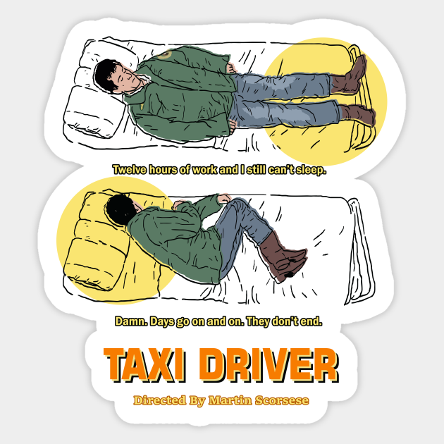 Travis Bickle vinyl decal sticker Taxi Driver De Niro