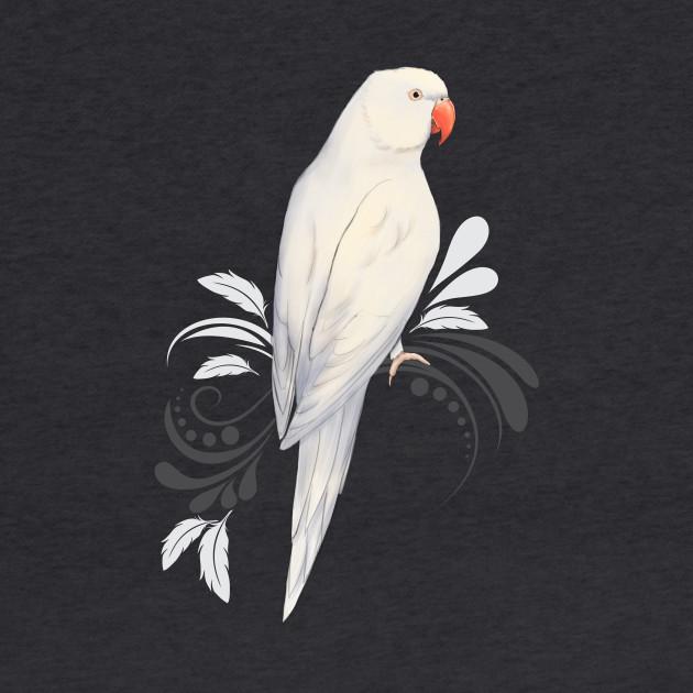 White Indian Ringneck Parrot White Indian Ringneck Parrot