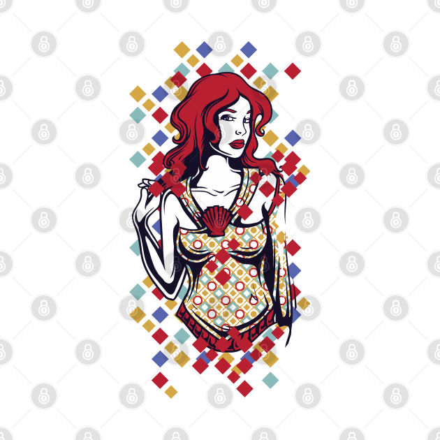 Red-haired Savvy Lady