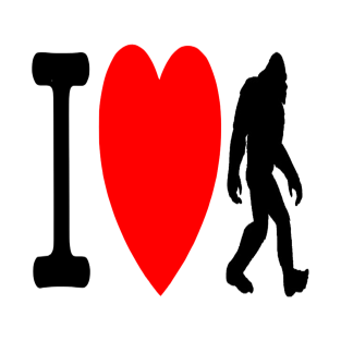 I Love Bigfoot t-shirts