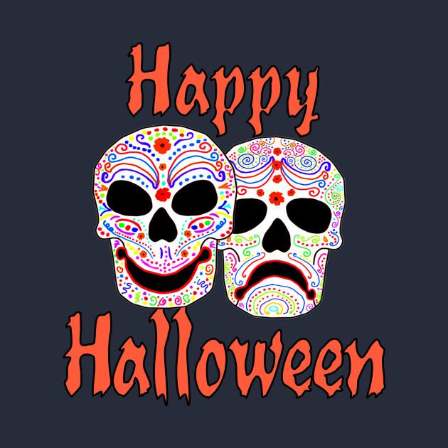 Happy Halloween Sugar Skulls