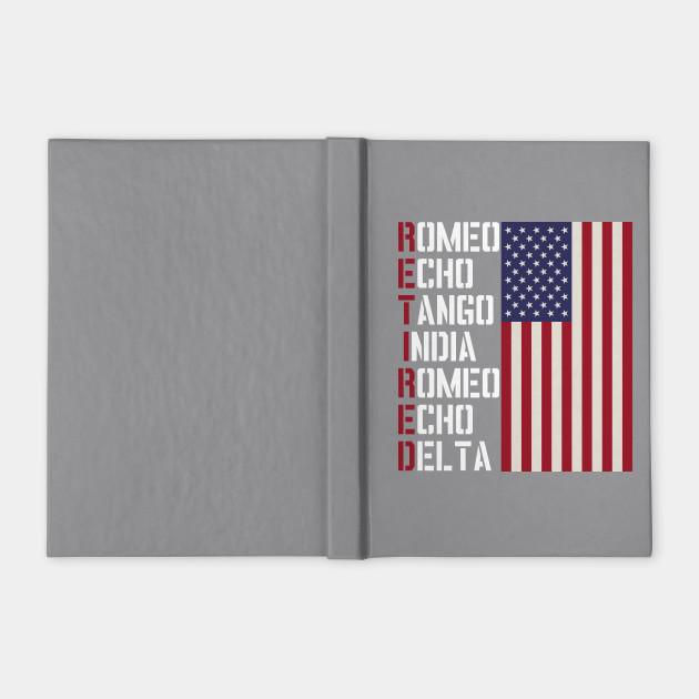 Military Police Pilot Retirement Gift Phonetic Alphabet Military Retirement Notebook Teepublic