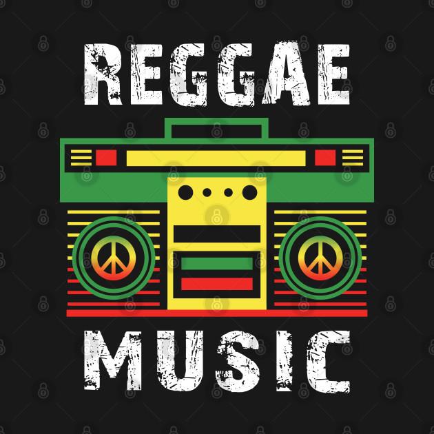 Retro Cassette Player Gift for Reggae Music & peace Lover graphic