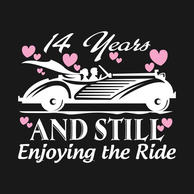 Anniversary Gift 14 Years Wedding Marriage Anniversary T Shirt