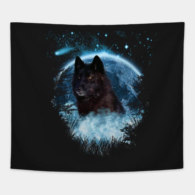 Black Wolf Blue Moon Full Scape