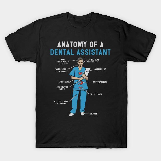 8e9f4092 Anatomy of Dental Assistant T-Shirt and Gifts - Funny Dental Assistant Gift  T-Shirt