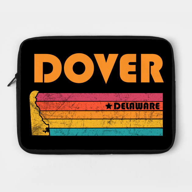 Dover Delaware T-Shirt Vintage City Retro Souvenir US State Silhouette Lover Gift With Star