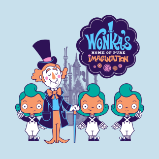 Wonka's Home of Pure Imagination t-shirts