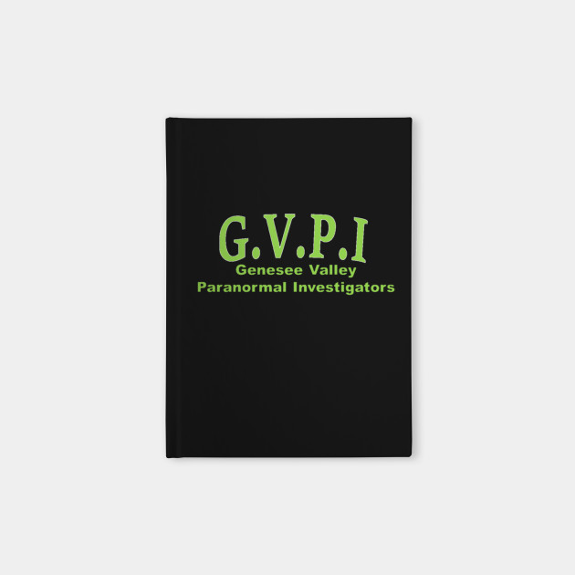 gvpi green letter - Paranormal - Notebook | TeePublic