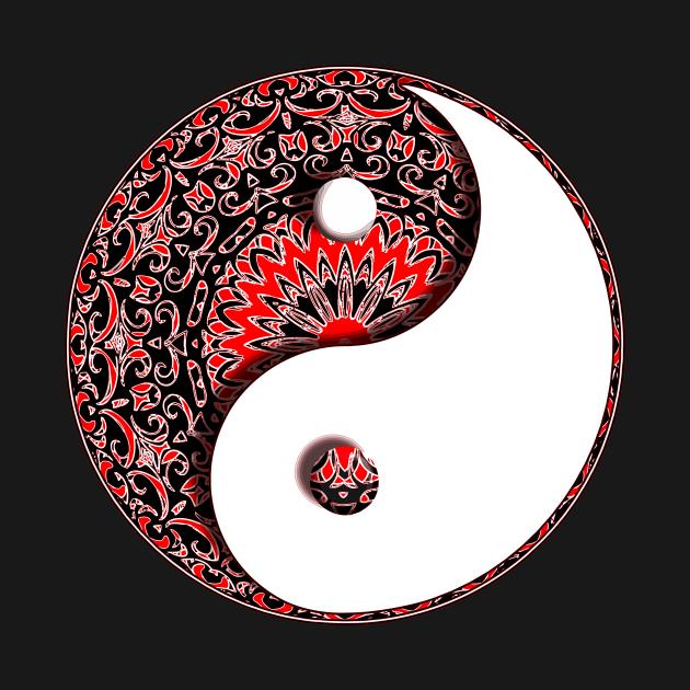 Ying Yang Circular Pattern