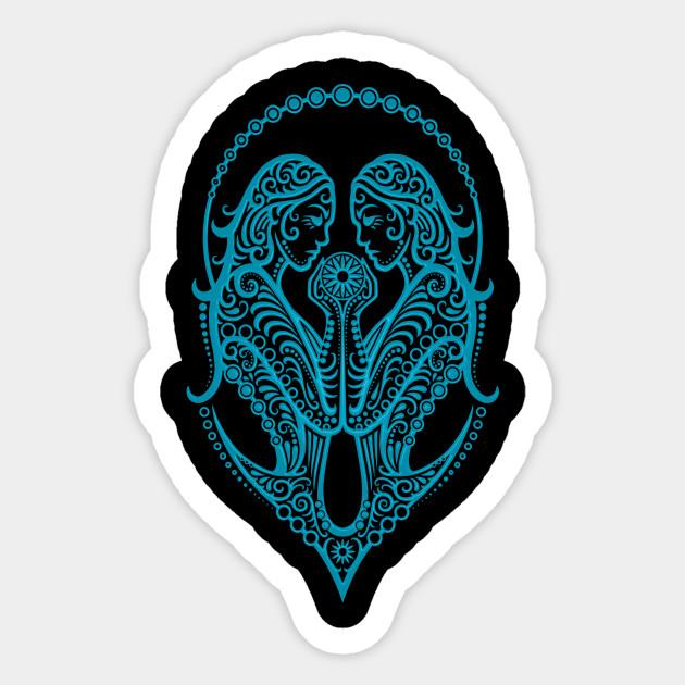 Blue Gemini Zodiac Sign
