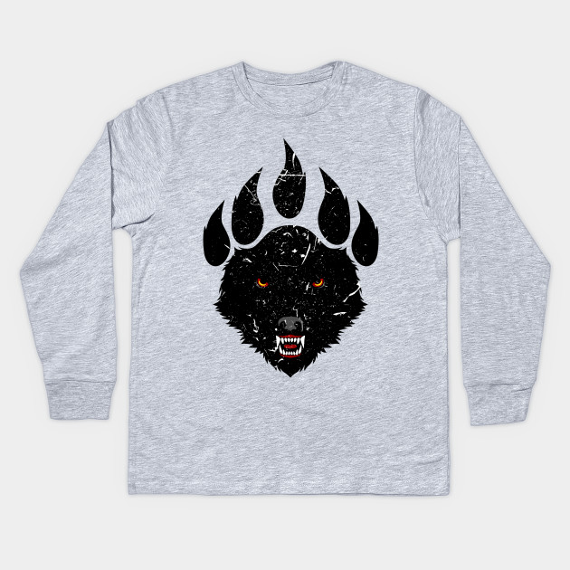 f831ed22 wolf claw - Wolf - Kids Long Sleeve T-Shirt | TeePublic