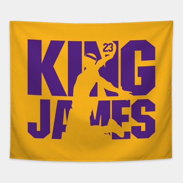 901c0ad7b1f King James Lakers - Lebron James - Tapestry   TeePublic