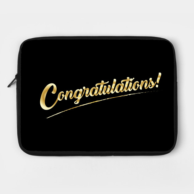 Congratulations! Gold Lettering Holiday Calligraphy Design by sofiartmedia