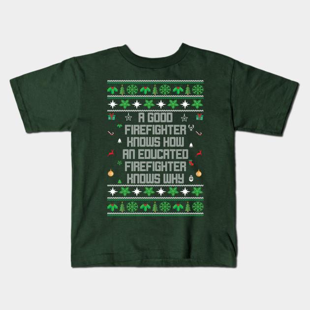 Firefighter Christmas Shirt.Ugly Firefighter Christmas Sweater