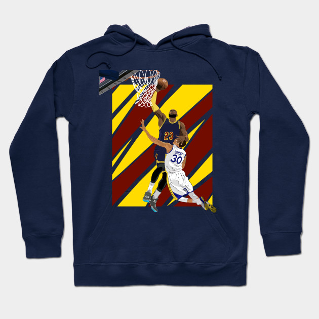 new arrival 15381 07f77 LeBron James dunk over Stephen Curry