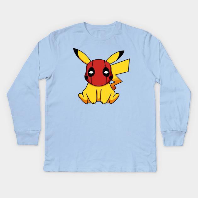 067b61ea Pikapool Pikachu Deadpool Mashup Pokemon Detective Pikachu Kids Long Sleeve  T-Shirt