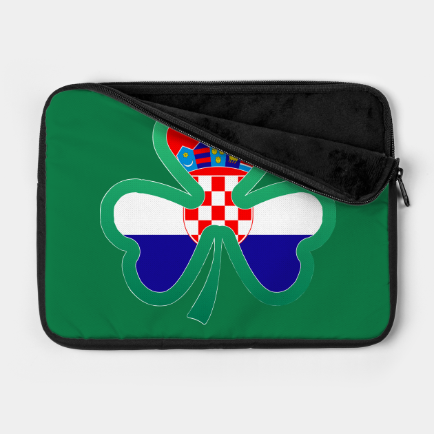 Croatian Flag for st patricks day, Irish Shamrock