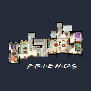 Friends Apartment Floor Plan t-shirts