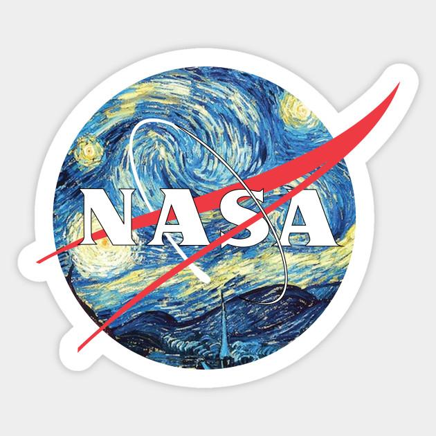 The Starry Nasa Van Gogh Sticker Teepublic