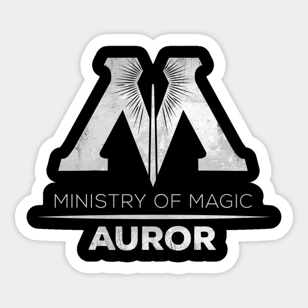 MINISTRY OF MAGIC - AUROR - Harry Potter - Sticker | TeePublic
