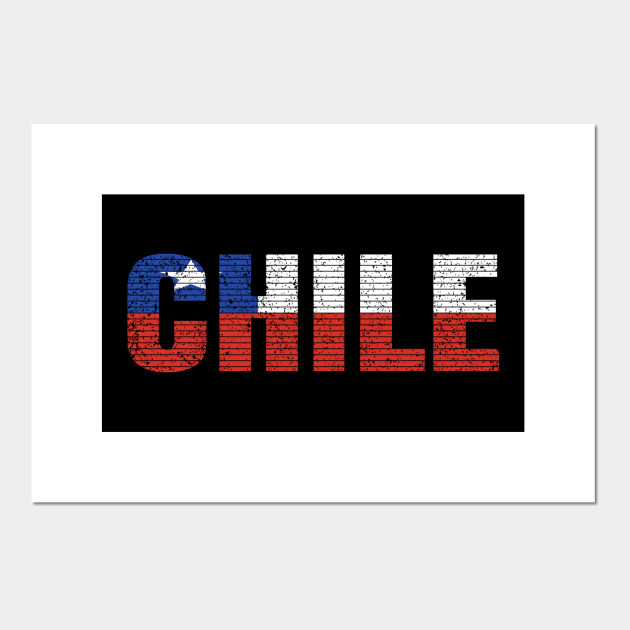 Chile Flag Text Chilean Pride Orgullo Bandera Chilena Hoodie Pullover