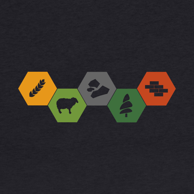 Settlers of Catan Minimalistic Colored