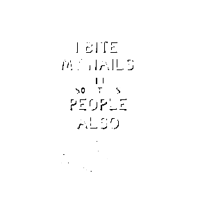 Nail Biting Stickers Teepublic