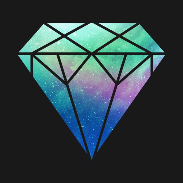 diamond galaxy diamonds are forever tshirt teepublic