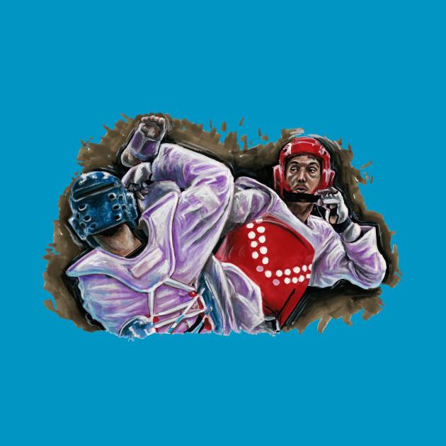 T shirt, taekwondo kick
