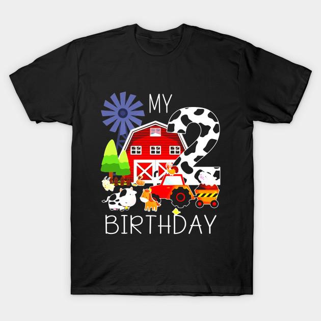 05dd64fce Kids 2 Year Old Farm My 2nd Birthday TShirt - Birthday - T-Shirt ...